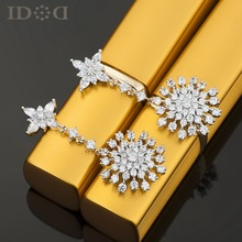 New 925 needles, luxury jewelry earrings, snowflake pendant earrings zircon magazines, Gifts for women