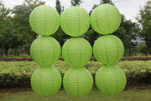 10pcs 6 8-10-12-14 16 Inch Round Chinese Lantern light green Paper Lanterns For Wedding/holiday/festival/home Party Decorations