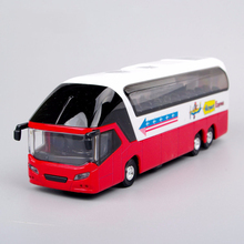 New York Red Double Decker Sightseeing Tour Bus 1/38 Diecast Model W/Light & Sound Mini Bus Model As A Collection or Kids Gift