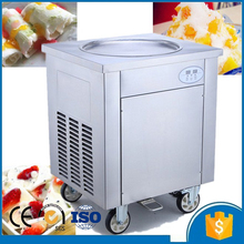 R410A cooling gas CE approved fried ice cream roll making machine Thailand fry ice cream roll machine for sale