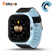 Lemado Kids GPS Smart Watch Q528 with Lighting Touch Smartwatch Phone with sim card Location SOS Call Anti lost Baby Wristwatch(China)