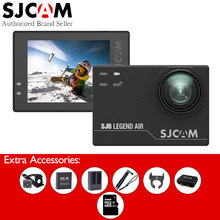Original SJCAM SJ6 Air 4k Action Camera with Watch Remote Monopod Controller Extra Battery Charger Camera Bag 32GB Card(China)