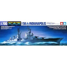 OHS Tamiya 25119 1/700 Japan Submarine I 58 And US Heavy Cruiser Indianapolis Assembly Scale Military Ship Model Building Kits
