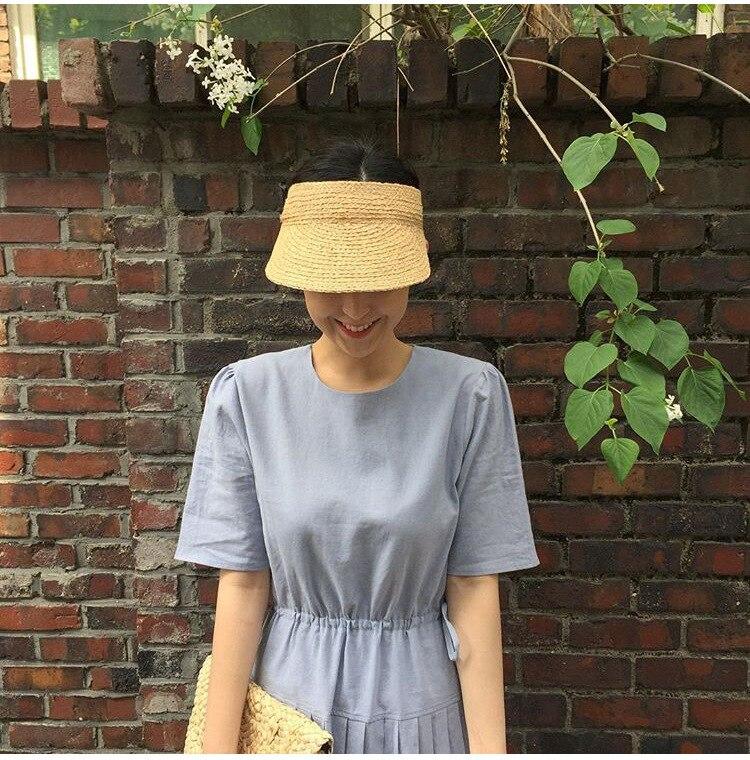 ladies uv roll up korean sun visor hat women sun visor straw sun visor caps (28)