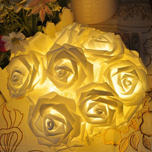 20 LED Rose Fairy String Lights Lamp Christmas Wedding Decoration,Flower Light Decortive,Indoor/Outdoor Decoration Gifts
