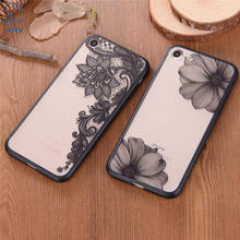 KRY Sexy Retro Floral Phone Cases For iPhone 8 Case Luxury Lace Flower Hard PC TPU Back Cover For iPhone 7 Cases Capa Coque(China)