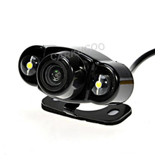 Auto Parktronic New Style HD Car Rear View Reverse Camera Night Vision Car Backup Rear Camera Parking Camera With 2 LED Lights(China)