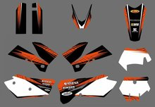 0578 NEW TEAM GRAPHICS WITH MATCHING BACKGROUNDS FIT FOR KTM SXF MXC SX EXC Series 2005 2006 2007 - Billy Huangy's store