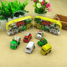 6pcs in 1 bag Mini Hot Wheels Toy Car Multi Color Model Miniature Car Toy Pull Back Bus Truck Kids Toys For Children Boy Gifts