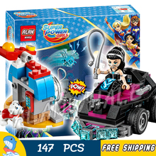 147pcs New DC Super Hero Girls 10613 Lashina Tank Model Building Blocks Assemble Bricks Toys Movie Games Compatible With Lego(China)