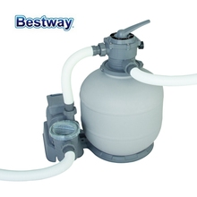 58366 Bestway 2000 Gal Sand Filter For 1100-54500L Pool Anti-rust Filter Strainer For Separating Leaves & Other Debris