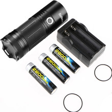 Sofirn SP35 Kit LED Flashlight High Power Cree XHP50 Linterna Lamp Torch LED Torcia Torch with Indicator+3*18650 Battery+Charger(China)