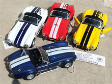Wholesale alloy die-cast car model children toy car best gift 1:32 1965 Shelby Cobra for ford Kids gifts