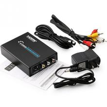 Top Quality HDMI to AV/S Terminal CVBS Composite Video Converter HD Adapter Cable