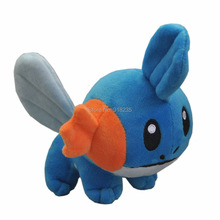 "Free Shipping EMS 100/Lot Mudkip 6"" Plush Doll For Kids Best Gifts Soft Animal Dolls Stuffed Toys(China)"
