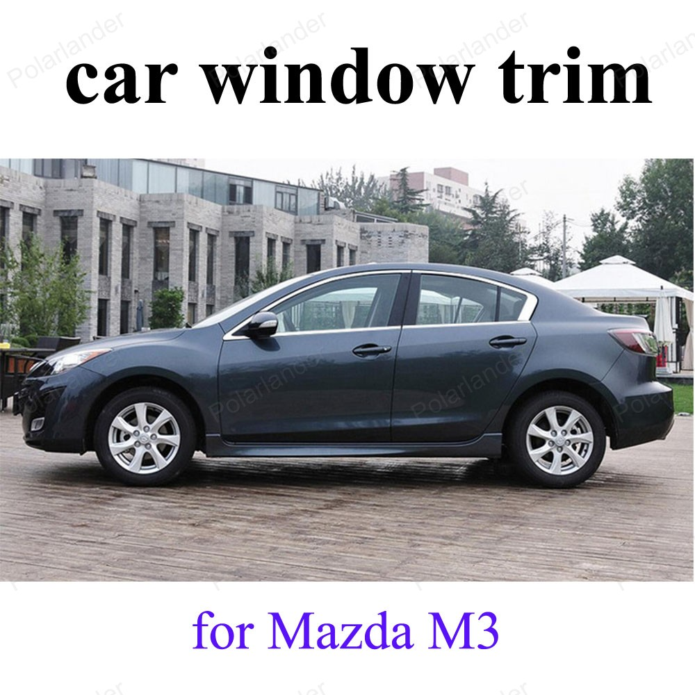 For M-azda M3 Car Window Trim Stainless Steel Decoration Strips car styling without column<br><br>Aliexpress