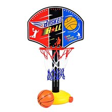 Kids Children Miniature Basketball Stand Set Adjujstable with Inflator Pump for Child Boys Outdoor Fun Sports Kids Toys Gifts