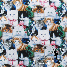 110*50cm 1pc Fabric Cat 100%Cotton Fabric Telas Patchwork Groups cats Print Fabric Sewing Material Diy Clothes Quilting