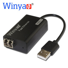 Winyao USB100FX USB2.0 To 100FX Desktop Fiber Ethernet Network Card Adapter -AX88772 NIC For PC MacBook Air Laptop Notebook(China)
