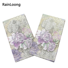 [RainLoong] Paper Napkin Event & Party Supplies Tissue Decoupage Servilleta 40cm*33cm15pcs/pack/lot(China)