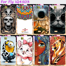 Soft TPU Rubber Cool Skull Minions Phone Case For Fly iq4503 iq 4503 quad era life 6 life6 Back Cover Housing Silicone
