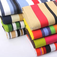 Colored Striped Canvas Fabric by the Meter 100% Cotton for DIY Curtain Tablecloth Pillow Decorative Sofa Cover Fabric Material