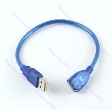 Short USB 2.0 A Female To A Male Extension Cable Cord