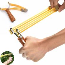 Powerful Strip Catapult Slingshot Metal Wood Bow Catapult Sling Hunting Game Toy