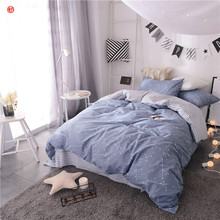 Home textile star bedding set 100%cotton letter flower printed king queen duvet cover bed sheet bed linen modern home bedding