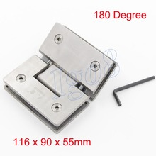 Stainless Steel SUS304 180 Degree Bathroom Door Hinges on Discount Sale(China)
