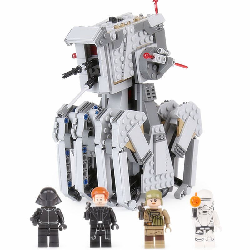 620Pcs Diy Lepin Genuine Star Plan Series Block The First Order Scout Walker Set Bricks Toy Gift Compatible With Legoingly 75177<br>