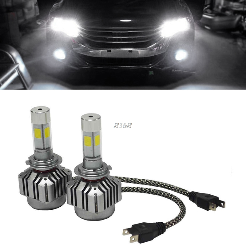 6000K COB 80W 8000LM H7 4-Sides LED Headlight Low Beam Bulbs DC 9-36V Durable<br>