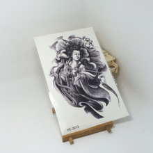 Body Art Beauty Makeup Oriental Goddness Tattoo 3D Waterproof Temporary Tattoo Stickers Sexy Exotic(China)