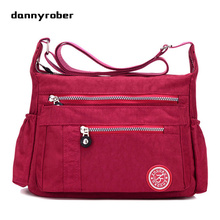 2017 Fashion Women's Waterproof Nylon Messenger Bags Handbags Shoulder Bags Girls Casual Crossbody School Bag F99(China)