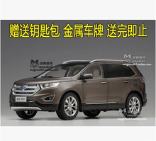 2015 New Ford Edge SUV jeep 1:18 Original high-quality alloy car model police TOY car Wood packaging gift boy collection