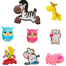 Creative Giraffe Owl Cat Pig Fish Sheep Fridge Magnets for Kids Small Size Silicon Gel Magnetic fridge Magnet Animal Magnets(China)