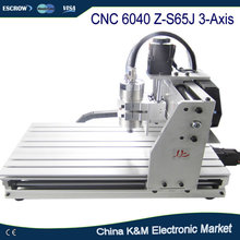 Free Shipping CNC 6040 Z-S65J 3 Axis wood engraving machine 6040Z-S60J PCB carving router with 800W spindle water cooling VFD(China)