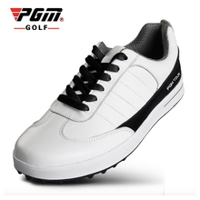 Pgm Brand 2017 New stye Cowhide shoes Men breathable Waterproof White Brown gym shoes sneakers athletic footwear(China)