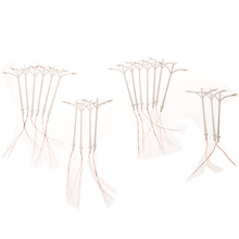 New Model Lights 20pcs Double Heads Plastic Model Street Lamp HO Scale 1:100 Model Street Lights Lamppost with Wires and Bulbs