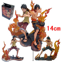 Japanese Anime One Piece Figures DX Brotherhood figures Monkey D Luffy vs Portgas D Ace Battle PVC Action Figure Toys(China)