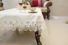 Hot!! Free Shipping-WAWQ1 Luxury european-style lace table cloths,-only 1pcs embroidered table cloth for hotel & wedding & party
