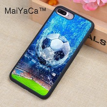 MaiYaCa Football Full Covered Rubber Case For Apple iPhone 7 Plus 5.5 inch Mobile Phone Back Cover Case(China)