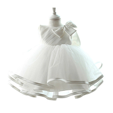 Baby Infant Christening Gown 2017 Newborn Baby Girls 1 Year Birthday Baptism Dress Tulle Party Dress For Toddler Girl Vestidos(China)