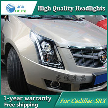 high quality Car Styling Head Lamp case for Cadillac SRX 2010-2016 LED Headlight DRL Daytime Running Light Bi-Xenon HID