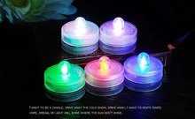 1 dozen 100% Waterproof LED Candle Wedding Decoration Submersible LED Tea Lights Party Decoration LED Floral Light
