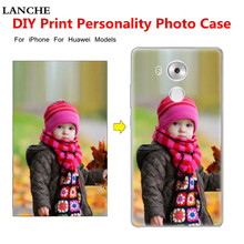 LANCHE Custom Design Logo Phone Cases For Huawei P6 P7 P8 P9 Lite Plus Honor 3C 4A 5A V8 Mate 8 Print Cover For iPhone 4 5 6 7