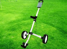 quality warranty hot sale special discount aluminum alloy two wheel golf trolley(China)