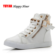New 2017 High top Shoes Women Fashion Rivets Canvas Shoes Women's Casual Shoes Leopard Flowers Brand Vintage Black(China)