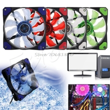3-Pin/4-Pin 120mm PWM PC Computer Case CPU Cooler Cooling Fan with LED Light NEW #R179T# Drop shipping