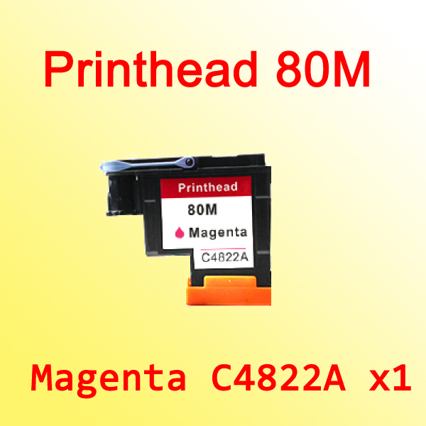 1x For hp80 for hp 80 Designjet 1000 1050c 1055cm C4822A magenta printhead 80<br>